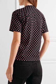 Comme des Garçons GIRL - Polka-dot Cotton-jersey T-shirt - Black - x small