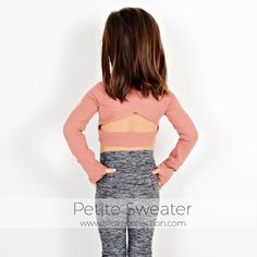 The Petite Sweater is designed for complete freedom of movement along with high-class style and comfort. Shrug For Dresses, Sewing Patterns Girls, Pdf Patterns, Petite Sweaters, Casual Skirt Outfits, Crochet Cardigan, Long Sleeve Crop Top, Ladies Dress Design, Two Piece Skirt Set