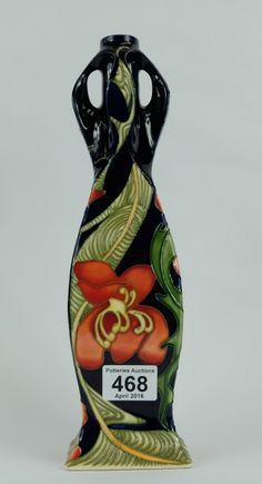 Top 25 Highest Selling Lots - Collectors & General Auction – Lot 468 – Moorcroft vase decorated in the design Russet Magnolias signed Hugh Edwards limited edition of 100 and dated 2007, height 32cm.  Sale Price £220.00