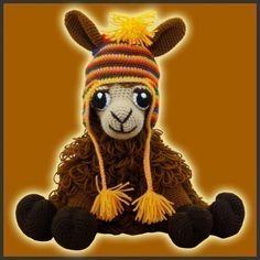I want to hug it!!!!!  Amigurumi Crochet Pattern - Coquena, The Llama.