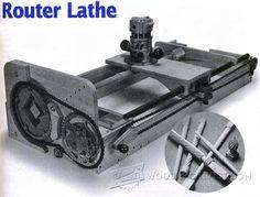 Router Lathe Plan - Router Tips, Jigs and Fixtures | WoodArchivist.com