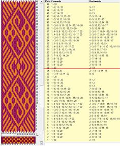 20 tarjetas, 2 colores, repite cada 24 movimientos // sed_988 diseñado en GTT༺❁