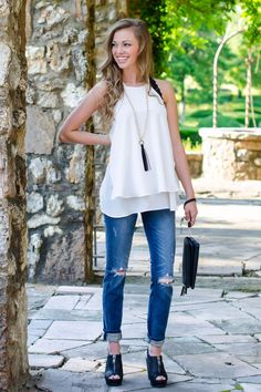 Flowy Layered Halter Top from Trendy Image Boutique And Monogramming