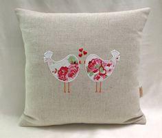 Cath Kidston White Lovebirds On Laura Ashley by honeybeedesign20, £15.00