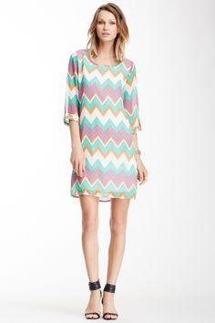 Peach Love Cream California Peach Love Cream California Zigzag Print Dress | Nordstrom Rack