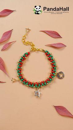 Beaded earrings 585397651551984383 - Christmas Braided Bracelet Source by Making Bracelets With Beads, Diy Bracelets Easy, Braided Bracelets, Handmade Bracelets, Handmade Jewelry, Jewelry Making, Handmade Wire, Jewelry Tools, Earrings Handmade