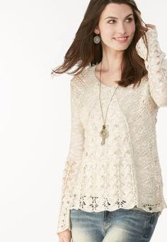 3f9392326 Mixed Knit High- Low Sweater- Plus High Low