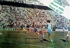 At Madrid 1 Bolivar (Bolivia) 0 in Oct 1979 in Malaga. Juan Arteche scores the only goal with this header in the Puerta Del Sol Tournament, group game.