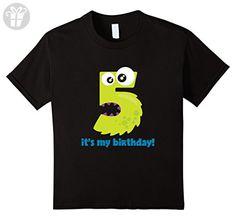 Kids It's My 5th Birthday Monster T-Shirt for Fifth B-Day 8 Black - Birthday shirts (*Amazon Partner-Link)