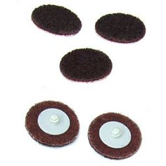 "QRC Non-Woven Coarse 2"" Discs (5pk) QRC discs feature a common male (screw type) hub on the back of the disc. These discs mount easily into our standard Quick Roll Connect holder pad with a simple half turn. Stays secure through use of the disc."