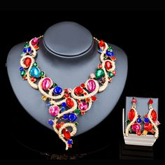 Lan palace african beads jewelry set gold color necklace and earrings jewelry sets six colors wedding jewelry free shipping //Price: $US $13.06 & FREE Shipping //     #hashtag3