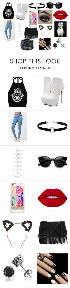 """""""Goin' to see my Bae!_xoxo"""" by blackwidow-xoxo on Polyvore featuring Boohoo, Bullhead Denim Co., Miss Selfridge, Stephen Webster, Casetify, Lime Crime, White House Black Market, BERRICLE and ABS by Allen Schwartz"""