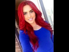▶ How to: dye dark hair bright red WITHOUT BLEACH! - YouTube