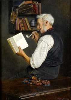 Charles Spencelayh - A Lover of Dickens