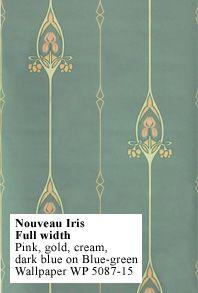 Bedroom Wallpaper - Historic Style - Nouveau Iris (Art Nouveau)- Traditional Home