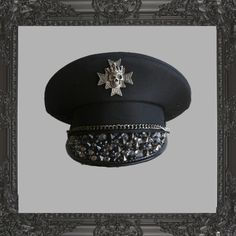 Hats featuring polyvore fashion accessories hats ashley purdy fashion inc stud studded hat