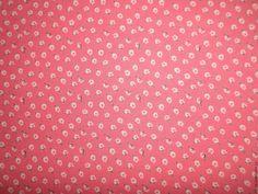 """Купить Штапель """"Ностальгия"""" - коралловый, мелкие цветочки, штапель, ткань, ткань для шитья, купить"""