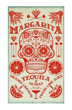 Poster Design Cocktail Poster Bar Art Kitchen by FigandMelonPress