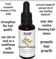 Neem oil for hair.