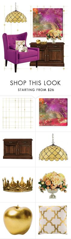 """""""BRIGHT SPOT"""" by paula-parker ❤ liked on Polyvore featuring interior, interiors, interior design, home, home decor, interior decorating, Tempaper, Oliver Gal Artist Co., DutchCrafters and Seletti"""