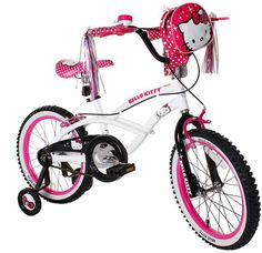 b6746031684 Hello Kitty 18 in. Girls Bike - She ll be riding the trails with the best  of them with the Hello Kitty 18 in. 18 inch wheels offer a smooth ride.