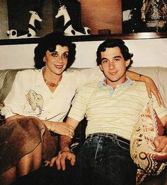 Ayrton Senna with mama