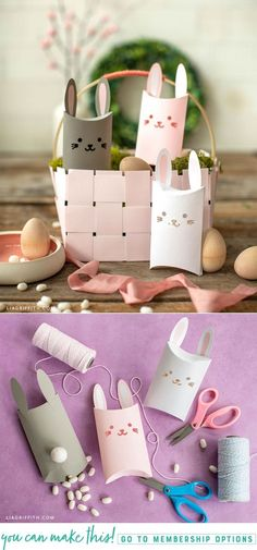 This papercut bunny pillow box is the cutest addition to your kids' Easter basket. Craft a few of them in no time at all and fill them with yummy treats! Easy Diy Crafts, Diy Crafts To Sell, Sell Diy, Spring Crafts, Holiday Crafts, Holiday Ideas, Diy Niños Manualidades, Diy Ostern, Pillow Box