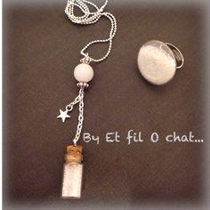 """Collection """"dans ma fiole"""": sautoir et sa bague en verre garnie: - EtfilOchat.over-blog.com"""