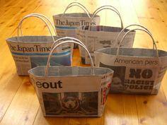 新聞紙がとても便利なエコバック生まれ変わります。予想以上に活躍してくれるので、暮らしに取り入れましょう。
