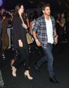 Scott Disick wears Balmain Biker Jeans and Balenciaga Sneakers at The Day by Day Fashion Show | UpscaleHype