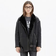 MW Shearling Bassline Coat || love the tough girl, yet soft side thing going on here.