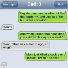 Funny Text Message Funny Texts Jokes, Text Jokes, Funny Text Fails, Funny Couples Texts, Funny Text Posts, Parent Text Fails, Couple Texts, Humor Texts, Funny Texts From Parents