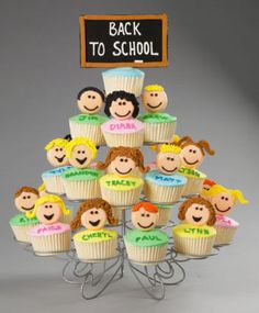 How awesome would it be to get a cupcake on your first day of school?? Awesome idea for teachers!  or at a birthday party!