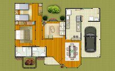 Projeto 1 - 97,85 m²: Fotos - Pré Casas Galeria de fotos do Projeto 1 - Casa Pré-Fabricada em Madeira de Lei. www.precasas.com.br