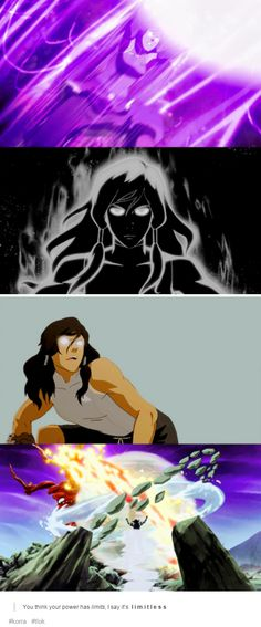 """You think your power has limits, I say it's limitless. Korra Avatar, Team Avatar, Avatar World, Nathalie Emmanuel, Azula, Good To See You, Korrasami, Fire Nation, Cartoon Shows"