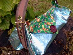 Original Square Bag shoulder bag on metallic leather