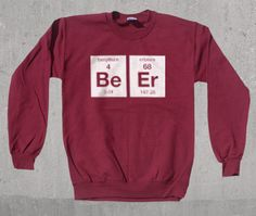 Beer Elements Crewneck Sweatshirt Funny Science by wopbobalubob, $26.95
