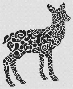 Tribal Whitetail Doe Cross Stitch Chart - White Willow Stitching Cross Stitch - (Powered by CubeCart)