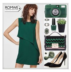 """romwe"" by itsybitsy62 ❤ liked on Polyvore featuring By Lassen, Forever 21, Illamasqua, OPI and Jimmy Choo"