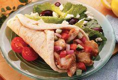 Greek Style Chicken Pita Sandwiches - Gold'n Plump
