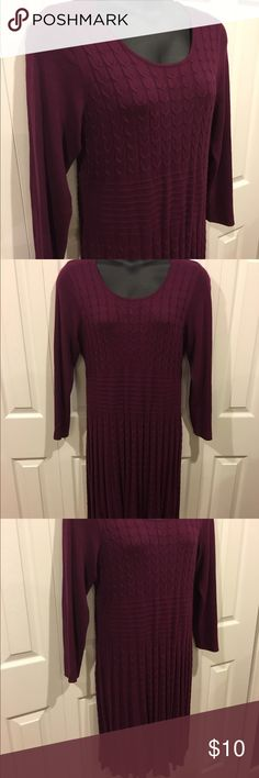 Dress Barn dress Very soft purple sweater dress from Dress Barn. Hits below the knee. Great condition. Dress Barn Dresses Midi