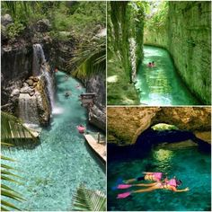 Xcaret underground river in Mexico