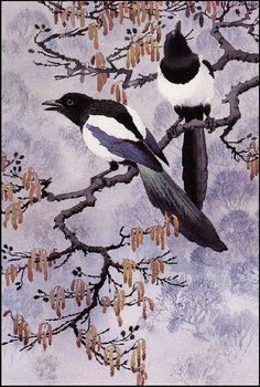 Photo of Charles Tunnicliffe for fans of Fine Art 28188995 Wildlife Paintings, Wildlife Art, Fantasy Kunst, Fantasy Art, Nature Artists, Vintage Artwork, Fine Art Photo, Magpie, Watercolor Print