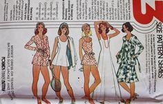 Tennis Dress Sewing Pattern-Jacket - Lined Panties- McCalls 5066 Bust 32.5-34-36 by BluetreeSewingStudio on Etsy