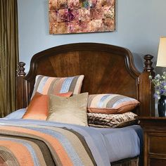 Southern Living Urban Heights Poster Panel Headboard In Chocolate Cherry