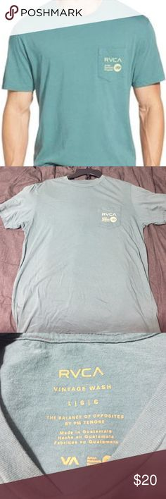 Green RVCA t-shirt In perfect condition. First pic shows the true color. Nothing on the back. Feel free to ask questions! RVCA Shirts Tees - Short Sleeve