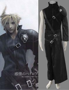 Final Fantasy Cloud Strife 4-piece Cosplay Costumes #cosplay #black #fantasy