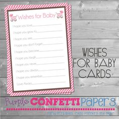 Wishes for Baby Cards Carriage Pink and by PurpleConfettiPapers, $5.00
