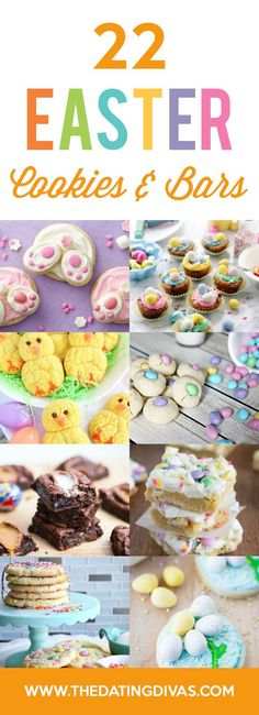 Easter Cookies, Bars, and Treats! Super cute ideas for an Easter dessert with the kids or Easter party!