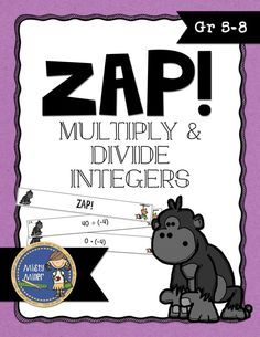 Multiply & Divide Integers ZAP is a fun and engaging game where students try to hold on to their strips and not get ZAPPED. The game contains 20 cards with multiplying & dividing integers problems, 4 ZAP cards, directions, a label for your container, an answer key, and an exit ticket. $ gr 5-8